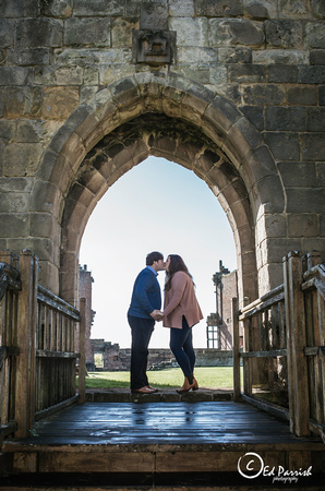 Pre Wedding Shoot at Moreton Corbett Castle Shrewsbury